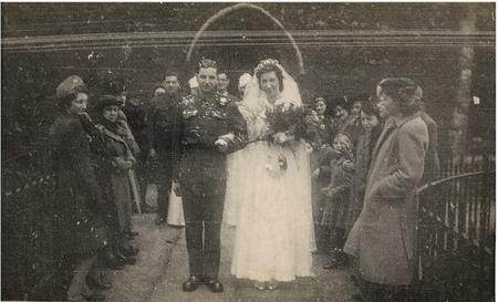 Jack and Phyllis Potter on their wedding day – February 20 1943
