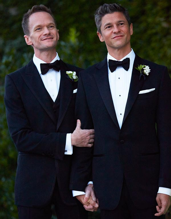 Neil Patrick Harris and David Burtka  Wedding Photo