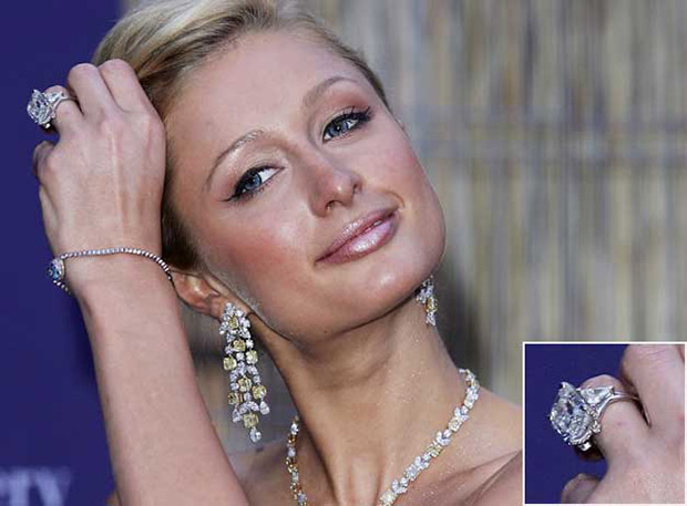 Image result for Paris Hilton's 20 Carat Engagement Ring