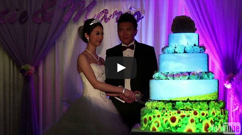 3D Projection Mapping Wedding Cake