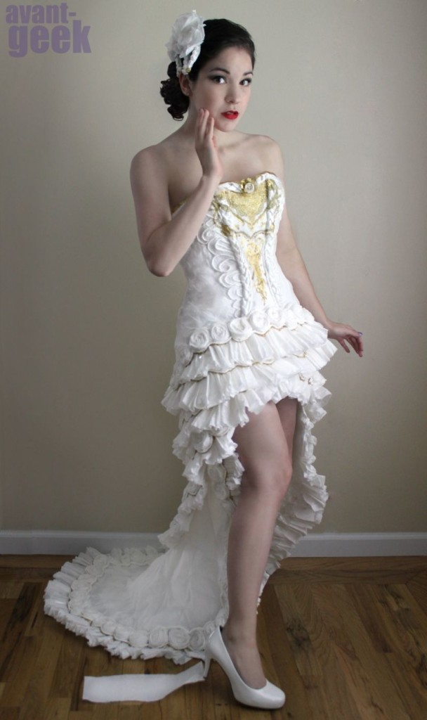 Wedding Dress Made Out Of Toiler Paper
