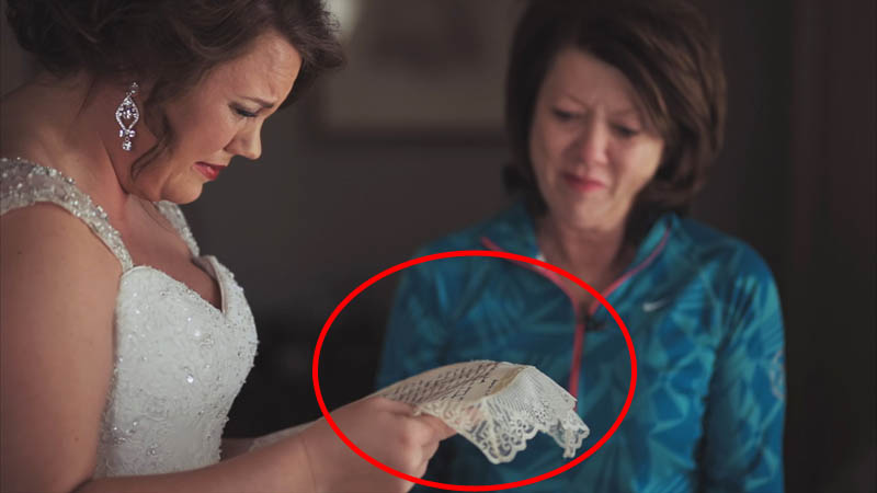 Mom Saves Letter over 20 Years for Daughter's Wedding Gift
