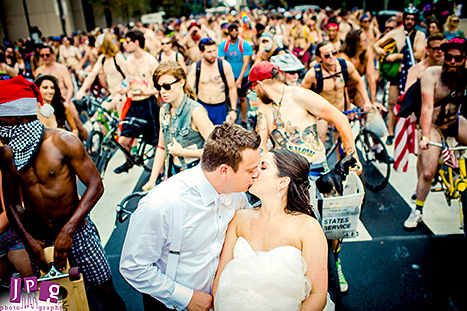 Wedding Photobomb Cyclists 2