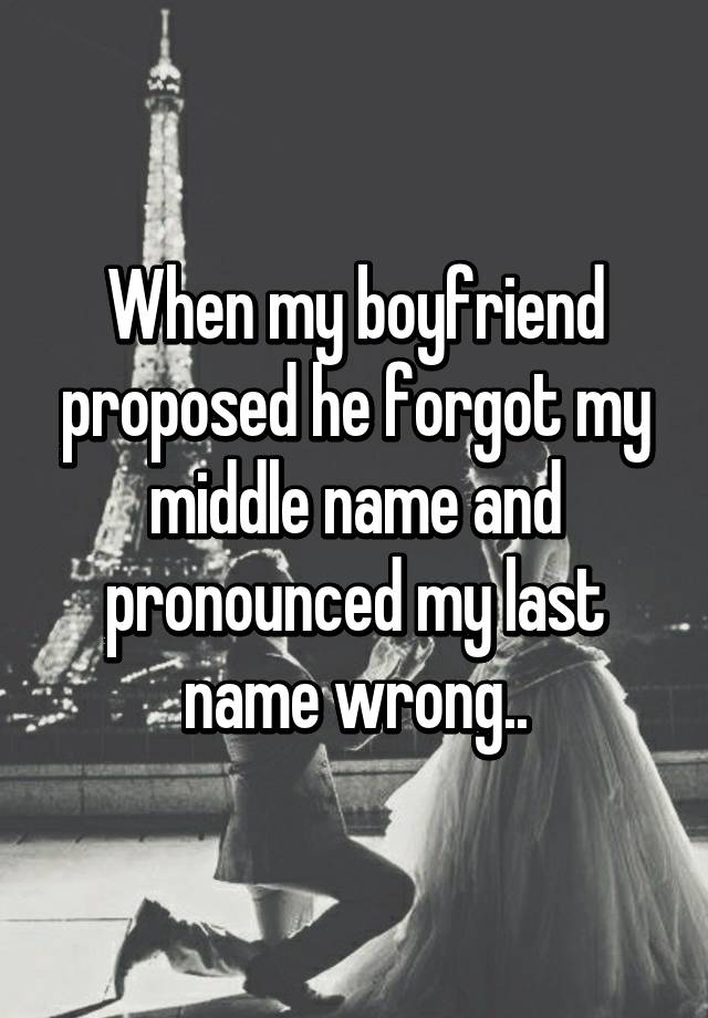 Wrong Name Proposal