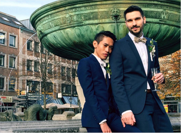 Thai German Gay Couple Got Married