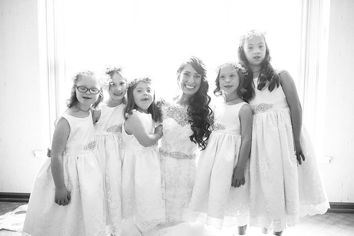 Kinsey French Special Education Teacher With Her Students At Her Wedding