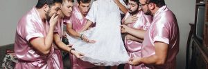 This Woman's All-Male Bridal Party Is So Amazing and Hilarious! Look How Cute The Photos Are!
