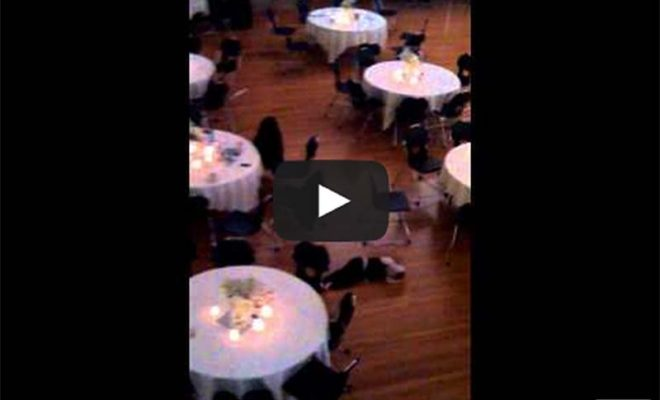 You Don't See This Often In A Wedding Ceremony. This Is Probably The Most Amazing Dance Step Ever! Watch It!