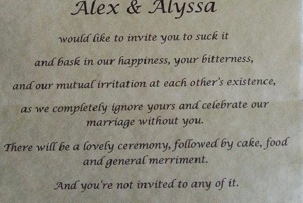 Ever Heard Of A Wedding Uninvitation Card? This Bride Did Send One To Her Own Parents! WOW!