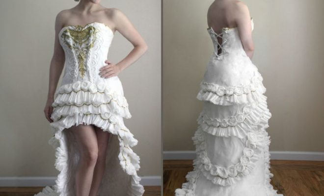 This Looks Like A Typical Modern Wedding Dress. But When I Looked Closely, I Was Amazed!