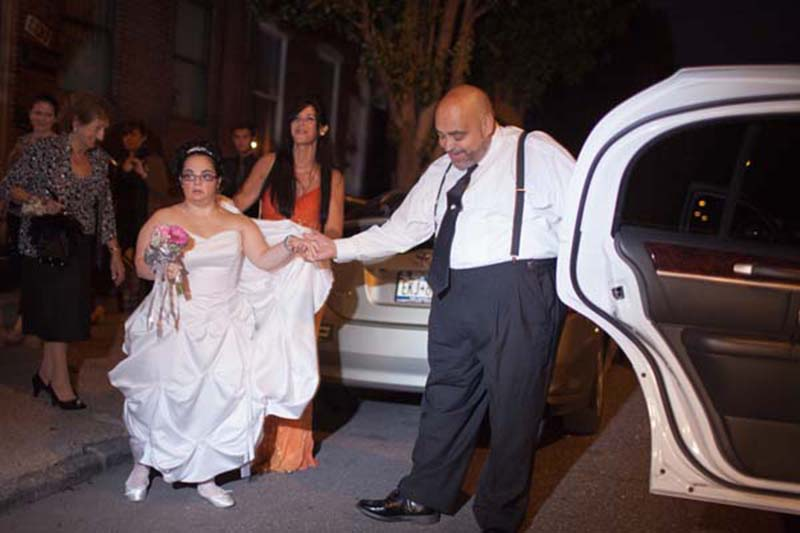 Ricchina Escorted Into Her Bridal Car