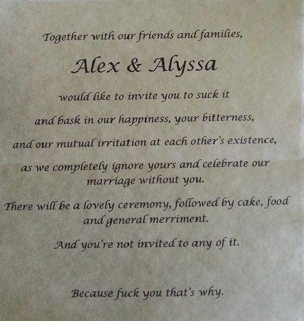 Anti Wedding Invitation