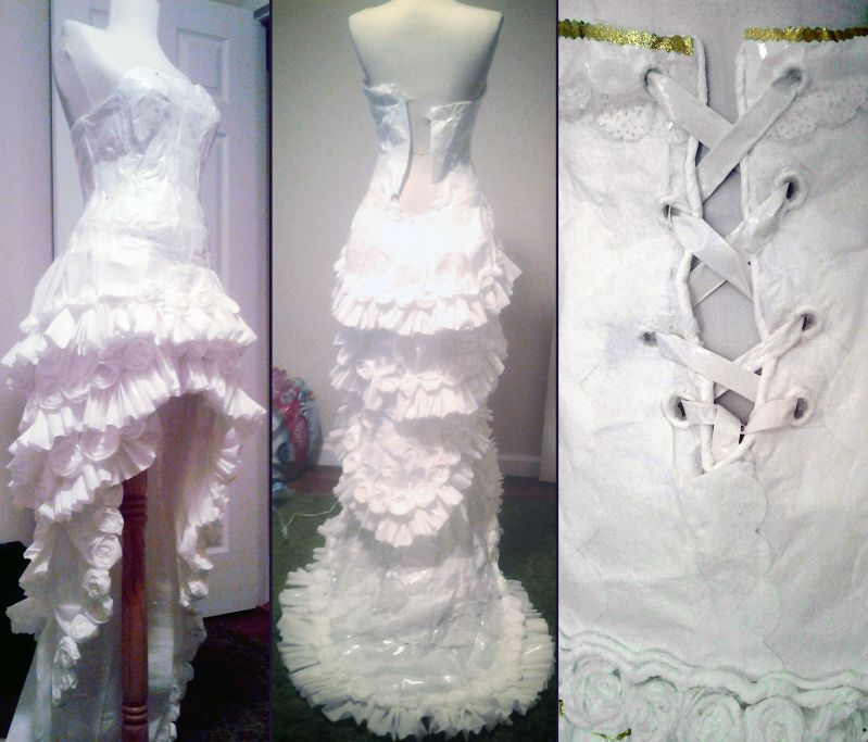 Wedding Dress Made From Toiler Paper Roll