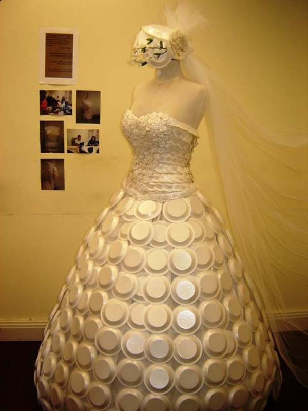 Styrofoam Wedding Gown