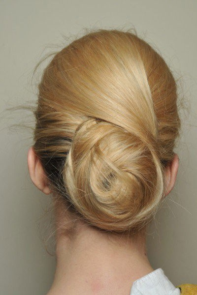 This bun makes you look twice to see the details in the way the hair is pulled together.