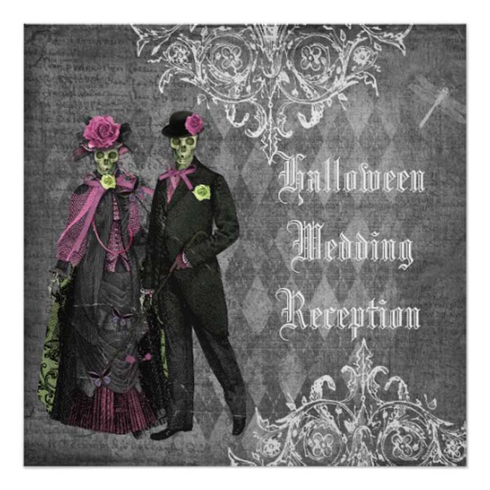 12 halloween_bride_groom_wedding_reception_only_invitation