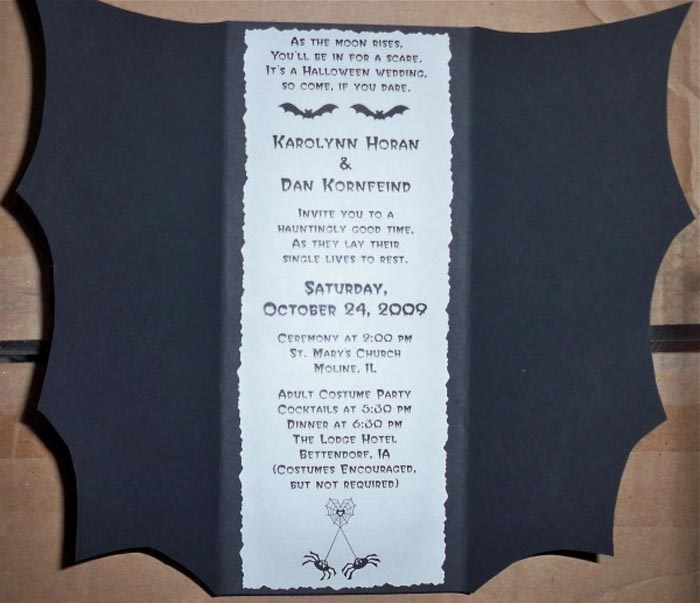 17 Halloween Wedding Invitation