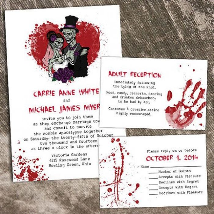 20 Halloween Wedding Invitation