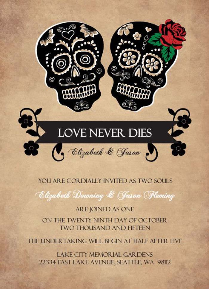 21 Halloween Wedding Invitation