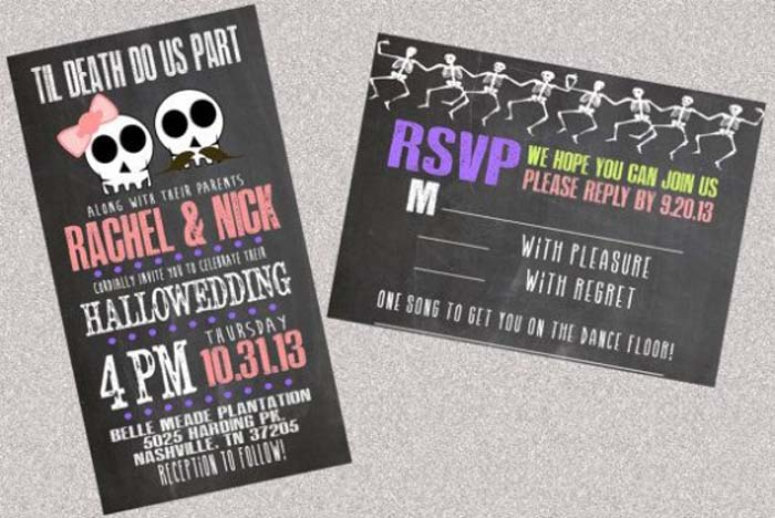 23 Halloween Wedding Invitation