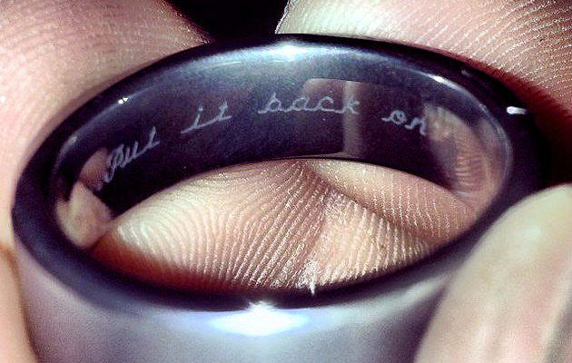Michigan Couple's Wedding Ring Goes Viral for Its Unique Inscription