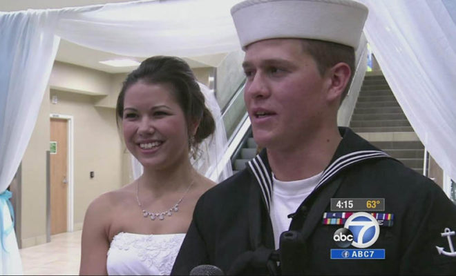 WATCH: The Bride Can't Wait Anymore! She Married Her Navy Sailor Boyfriend Right At The International Airport!