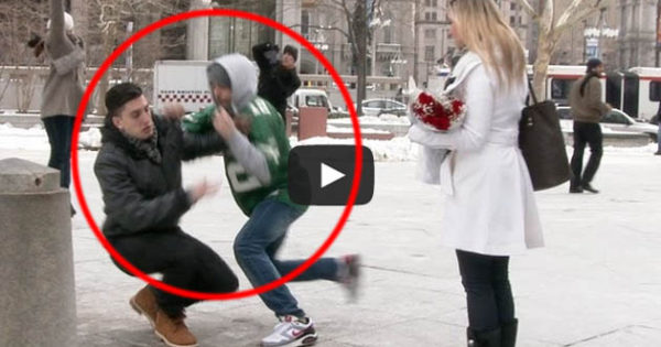 Public Wedding Proposal Gone Wrong: Ring Was Stolen In The Middle Of Proposing And It Was All Caught In Tape!