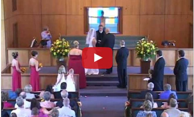 WATCH: This Could Be The Strangest Wedding Interruption Ever! Craziness Starts At 0:30 Mark
