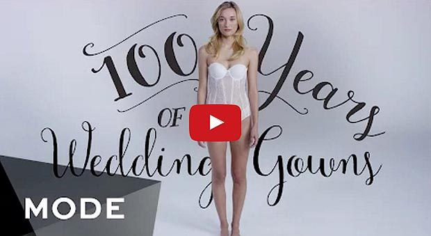 This Is Amazing! Watch This Woman Model 100 Years Of Wedding Dresses In Just 3 Minutes!